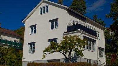 Fasadrenovering Grönviksvägen 116 Bromma