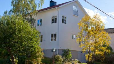 Renoverad fasad Orrspelsvägen 74 Stockholm